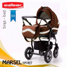 Carucior 3 in 1 Marsel Sport 64 (Maro) Adbor - Carucior copii 3 in 1