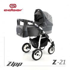 Carucior 2 in 1 Zipp Z-21 Cadru Alb Adbor - Carucior copii 2 in 1