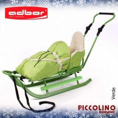 Saniuta pentru copii Piccolino Complet Verde Adbor - Sanie