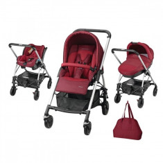 Carucior 3 in 1 Trio Streety Next Robin Red Bebe Confort - Carucior copii 3 in 1 Bebe Confort, Albastru
