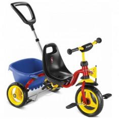Tricicleta cu maner 75 x 48 cm CAT 1S Multicolor Puky - Tricicleta copii