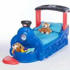Pat Locomotiva Choo Choo Little Tikes - Pat tematic pentru copii Little Tikes, Albastru
