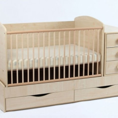 Patut Transformabil Silence cu Leganare 3603 MyKids - Patut lemn pentru bebelusi