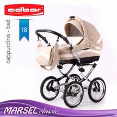Carucior 3 in 1 Marsel Classic 18 (Bej) Adbor - Carucior copii 3 in 1