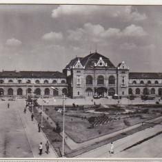 Bnk cp Arad - Piata garii - necirculata - Carte Postala Crisana dupa 1918, Printata