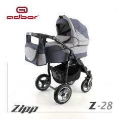 Carucior 2 in 1 Zipp Z-28 Cadru Negru Adbor - Carucior copii 2 in 1