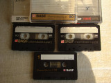 Lot 3 Casete Audio BASF Chromdioxid Super II si Maxima II - 90 min