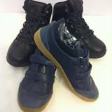 Pantofi sport baieti 34 Tino - Adidasi copii Tino, Piele naturala, Bleumarin