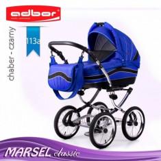Carucior 3 in 1 Marsel Classic 113a (Albastru) Adbor - Carucior copii 3 in 1