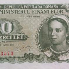 Bancnota 20 Lei - ROMANIA, anul 1950 *cod 01 - Bancnota romaneasca