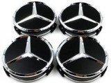 4 x capac centru roata aliaj 75mm 3 pin Wheel Cover Logo Mercedes benz