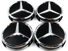 4 x capac centru roata aliaj 75mm 3 pin Wheel Cover Logo Mercedes benz