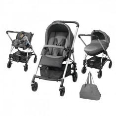 Carucior 3 in 1 Trio Streety Next Concrete Grey Bebe Confort - Carucior copii 3 in 1 Bebe Confort, Albastru