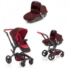 Carucior 3 in 1 copii Rider Reverse Matrix R62 (Visiniu) Jane - Carucior copii 3 in 1