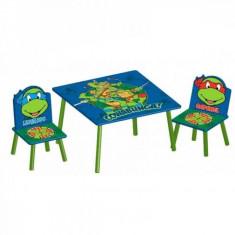 Set masuta si 2 scaunele Disney Testoasele Ninja Delta Children - Masuta/scaun copii
