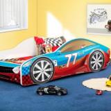 Patut pentru copii Drive 160 x 80 cm 7 (Rosu cu Albastru 77 Engine) Nobiko