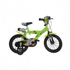 Bicicleta seria Ninja Turtles 14 inch Dino Bikes - Bicicleta copii Dino Bikes, Verde
