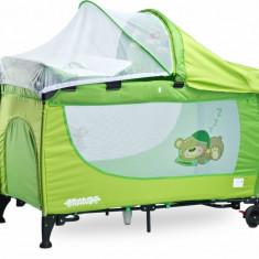 Patut pliant Grande cu vibratii 120 x 60 cm Green Caretero - Patut pliant bebelusi