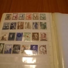 Clasor cu serii si timbre diverse stampilate din Austria perioada 1945-1960