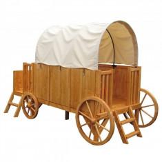 Trasura-Casuta din lemn Jessy Soulet - Casuta copii