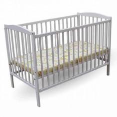 Patut copii Colour 120 x 60 cm Alb First Smile - Patut lemn pentru bebelusi