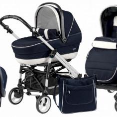 Carucior 3 in 1 Easy Drive Completo Luna Peg Perego - Carucior copii 3 in 1 Peg Perego, Albastru