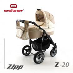 Carucior 2 in 1 Zipp Z-20 Cadru Negru Adbor - Carucior copii 2 in 1
