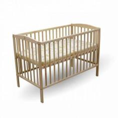 Patut copii Natur 120 x 60 cm First Smile - Patut lemn pentru bebelusi First Smile, Maro