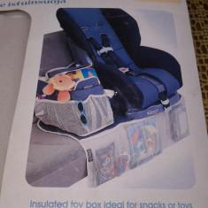 Graco Protectie Scaun Auto + Organizer - Scaun auto copii Graco, 1-2-3 (9-36 kg), In sensul directiei de mers