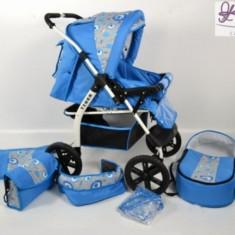 Carucior multifunctional Tiger 1 (Albastru cu Gri) Kerttu - Carucior copii 2 in 1