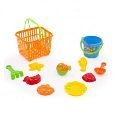 Set jucarii de plaja M-Toys Cosulet si 9 accesorii