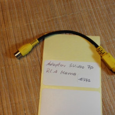 Adaptor SVideo 7p - RCA Mama (10775) - Cablu Camera Video