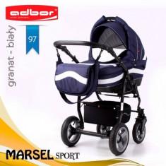 Carucior 3 in 1 Marsel Sport 97 (Bleumarin) Adbor - Carucior copii 3 in 1