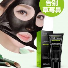 Masca Neagra crema BioAqua, pentru indepartat punctele negre 60 ml - Masca fata