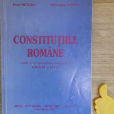 Constitutiile romane Ioan Muraru - Carte Drept constitutional