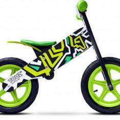 Bicicleta de lemn Zap Green Toyz - Bicicleta copii