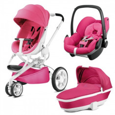 Carucior 3 in 1 Moodd Pink Passion Quinny - Carucior copii 3 in 1