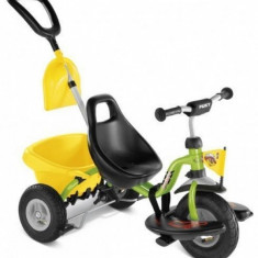 Tricicleta cu maner si lopatica 76 x 48 cm CAT 1SL Verde Puky - Tricicleta copii