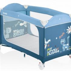 Patut pliant Dolce Nanna Plus 120 x 60 cm 348 (Bleumarin) Brevi - Patut pliant bebelusi Brevi, Albastru