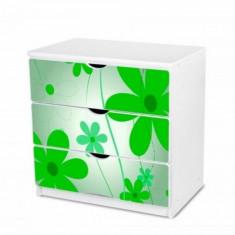 Comoda cu 3 sertare 2 (Flori Verzi) Nobiko - Dulap copii