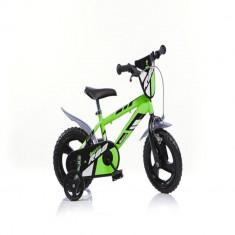 Bicicleta seria MTB 12 inch Verde Dino Bikes - Bicicleta copii Dino Bikes, 3-5 ani