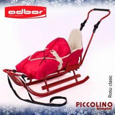 Saniuta pentru copii Piccolino Complet Rosu Adbor - Sanie