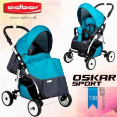 Carucior sport Oskar Sport 138 (Grafit cu Albastru deschis) Adbor - Carucior copii Sport