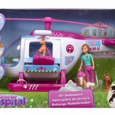 Elicopter cu figurine Rescue Hospital Vivid - Elicopter de jucarie, Plastic