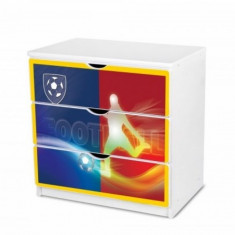 Comoda cu 3 sertare si polita birou 31 (Football) Nobiko - Dulap copii