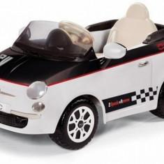 Masinuta electrica 12V Fiat 500 White / Black Peg Perego - Masinuta electrica copii Peg Perego, Alb