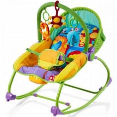 Balansoar musical cu vibratii Relax Jungle Chipolino - Balansoar interior Chipolino, Multicolor