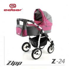 Carucior 2 in 1 Zipp Z-24 Cadru Alb Adbor - Carucior copii 2 in 1