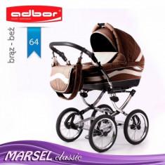 Carucior 3 in 1 Marsel Classic 64 (Maro) Adbor - Carucior copii 3 in 1
