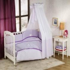 Set lenjerie de pat 6+1 piese Paseo Violet Nino - Lenjerie pat copii Nino, Rosu
